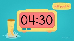 Digital Clocks: Telling Time to Half Past