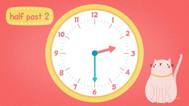 Half Past on Analogue Clocks