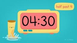 Half Past on Digital Clocks