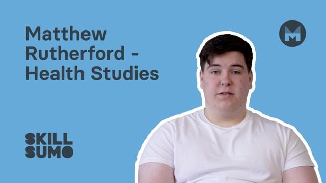 NWRC: Matthew Rutherford in Health Studies