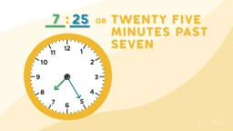 Telling Time to Five Minutes