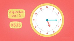 Quarter Past and Quarter To on Analogue Clocks
