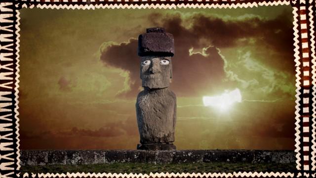 Moai on Rapa Nui