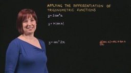 Applying the Differentiation of Trigonometric Functions